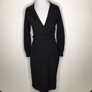 Dolce & Gabbana Black Wool Midi Dress Size 38 or 2